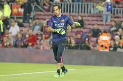 CLAUDIO BRAVO  FC BARCELONE Royalty Free Stock Photo