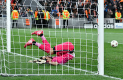 Claudio Bravo in the net Royalty Free Stock Photography