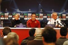 Claudio Ranieri, ônibus COMO de Roma Imagem de Stock