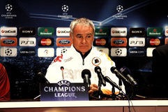 Claudio Ranieri, coach of AS Roma Royalty Free Stock Photos