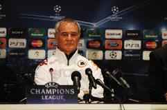 Claudio Ranieri, coach of AS Roma Royalty Free Stock Image