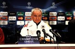Claudio Ranieri, entraîneur de COMME Roma Photos libres de droits
