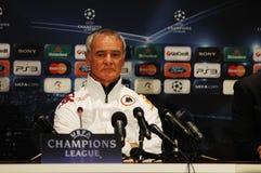 Claudio Ranieri, entraîneur de COMME Roma Image libre de droits