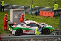 Claudio Schiavoni Ferrari 458 utmaning Evo på Monza Royaltyfri Fotografi