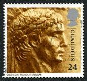 Claudius英国邮票 库存照片