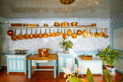 Clauds Monets hus i Giverny, Frankrike arkivfoton