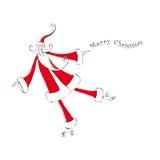 claus łyżwiarstwo Santa Fotografia Stock