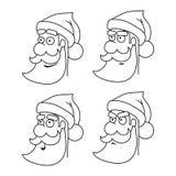 Claus εύκολο κλίσεων μεγάλο santa εκτύπωσης απεικόνισης λαβών επικεφαλής στο διάνυσμα Στοκ Εικόνες