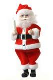 Claus πέρα από το λευκό santa στοκ εικόνες
