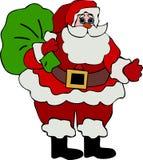 Claus παρουσιάζει το santa διανυσματική απεικόνιση