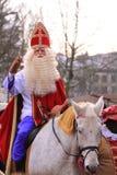 Claus το santa αλόγων του Στοκ Φωτογραφίες