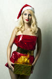 claus женский модельный santa сексуальный стоковая фотография