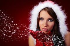claus одевает носить santa девушки сексуальный Стоковые Фотографии RF