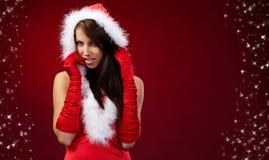 claus одевает носить santa девушки сексуальный Стоковая Фотография RF
