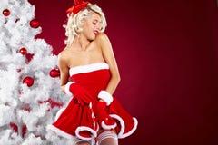 claus одевает носить santa девушки сексуальный Стоковое Изображение