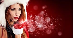 claus одевает носить santa девушки сексуальный Стоковое Фото