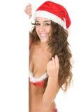 claus одевает носить santa девушки стоковые изображения