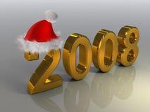 claus 2008 santa Royaltyfri Fotografi