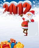 claus 2012 santa Arkivbilder