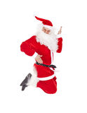 claus banhoppning santa Arkivbild
