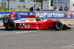 Claus Bertelsen in einer Formel 1 Ferraris Jean Alesi stockfoto