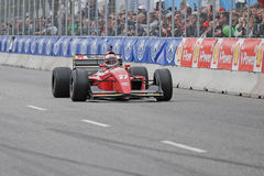 Claus Bertelsen in a Ferrari model Jean Alesi formula one racing car Stock Image