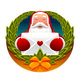 claus bokstav santa Royaltyfri Fotografi