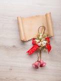 claus bokstav santa till Julträgarneringar Fotografering för Bildbyråer