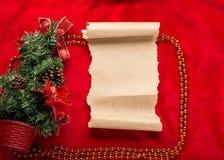claus bokstav santa till Röd jul  garneringar Fotografering för Bildbyråer