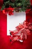 claus bokstav santa till Röd jul  garneringar Royaltyfria Bilder