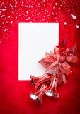 claus bokstav santa till Röd jul  garneringar Royaltyfri Fotografi