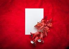 claus bokstav santa till Röd jul  garneringar Arkivbilder