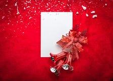 claus bokstav santa till Röd jul  garneringar Royaltyfria Foton