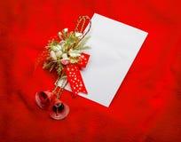 claus bokstav santa till Röd jul  garneringar Arkivfoto