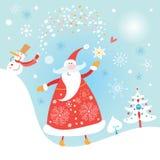 claus byczy Santa royalty ilustracja
