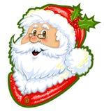 claus clipartfärg santa Royaltyfri Bild