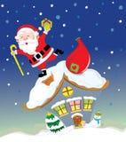 claus dachowy Santa ilustracja wektor
