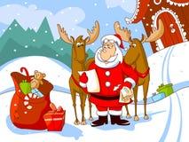 claus deers jego list czytają Santa royalty ilustracja