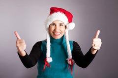 claus dziewczyna Santa Zdjęcia Stock