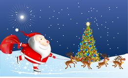 Claus está vindo Fotos de Stock Royalty Free