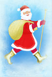claus frost santa vektor illustrationer
