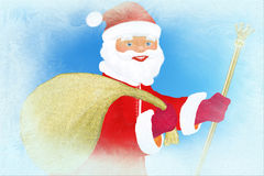 claus frost santa royaltyfri illustrationer