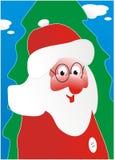 claus futerka zieleni Santa drzewo Zdjęcie Stock