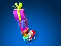 claus gåvor santa Arkivfoton