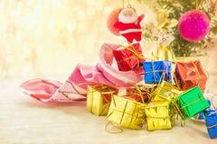 claus gåvor santa Fotografering för Bildbyråer