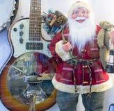 claus gitarr santa Royaltyfri Foto