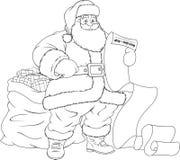 claus glada santa stock illustrationer