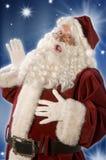 claus hälsning santa Royaltyfria Bilder