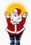 claus hand painted santa Стоковая Фотография