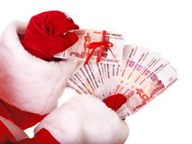 claus handpengar santa Arkivbilder